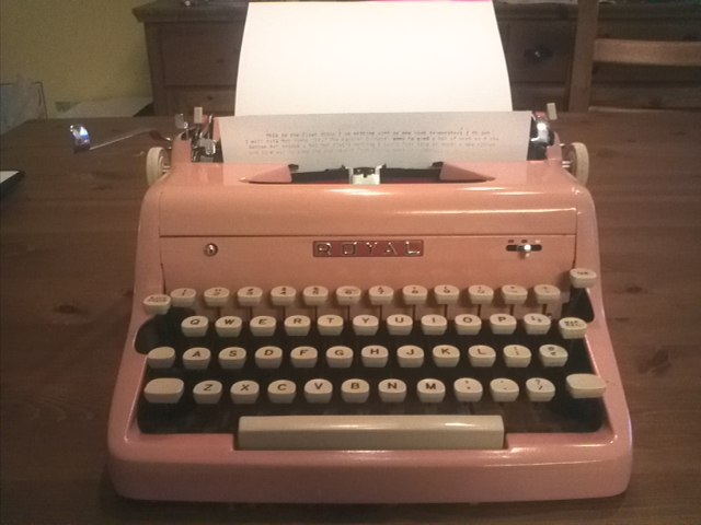 A pink Royal Quiet De Luxe from 1956.